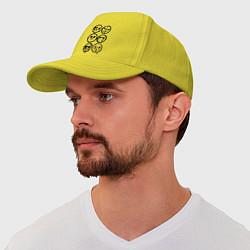 Бейсболка HU Masks цвета желтый — фото 1