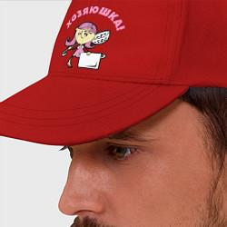 Бейсболка Хозяюшка цвета красный — фото 2