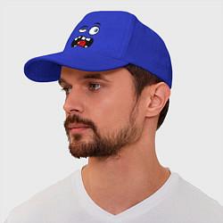 Бейсболка Чувствую себя не важно цвета синий — фото 1