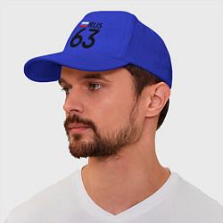 Бейсболка RUS 63 цвета синий — фото 1