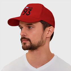 Бейсболка RUS 93 цвета красный — фото 1