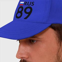 Бейсболка RUS 89 цвета синий — фото 2