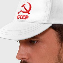 Бейсболка СССР Логотип цвета белый — фото 2