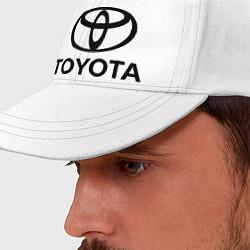 Бейсболка Toyota Logo цвета белый — фото 2
