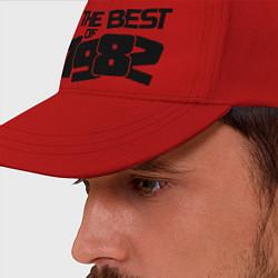 Бейсболка The best of 1982 цвета красный — фото 2