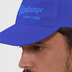 Бейсболка Vintage (since 1980) цвета синий — фото 2
