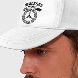 Бейсболка Mercedes Benz цвета белый — фото 2
