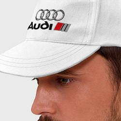 Бейсболка Audi цвета белый — фото 2