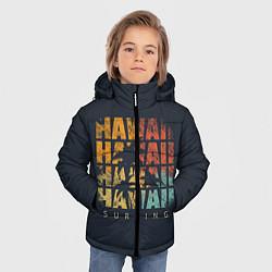 Куртка зимняя для мальчика Hawaii Surfing цвета 3D-черный — фото 2