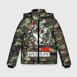 Куртка зимняя для мальчика Best fisherman цвета 3D-черный — фото 1