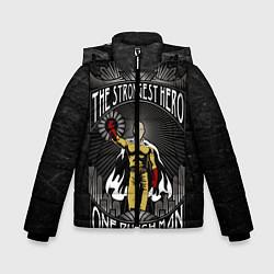Куртка зимняя для мальчика The Strongest Hero цвета 3D-черный — фото 1
