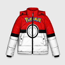 Куртка зимняя для мальчика Покеболл 3 цвета 3D-черный — фото 1