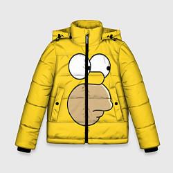 Куртка зимняя для мальчика Лицо Гомера цвета 3D-черный — фото 1
