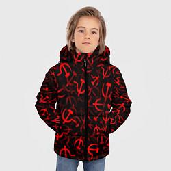 Куртка зимняя для мальчика Серп и молот 2 цвета 3D-черный — фото 2