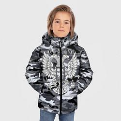Куртка зимняя для мальчика Городской камуфляж Россия цвета 3D-черный — фото 2
