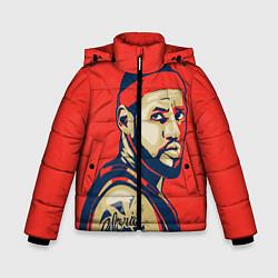 Куртка зимняя для мальчика LeBron James цвета 3D-черный — фото 1