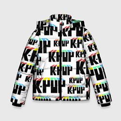 Куртка зимняя для мальчика K-pop Pattern цвета 3D-черный — фото 1
