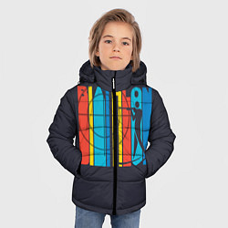 Куртка зимняя для мальчика Радужный спорт цвета 3D-черный — фото 2