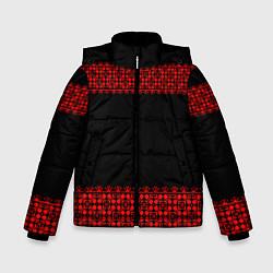 Куртка зимняя для мальчика Славянский орнамент (на чёрном) цвета 3D-черный — фото 1