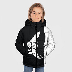 Куртка зимняя для мальчика Grandfather: Black & White цвета 3D-черный — фото 2