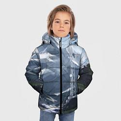 Куртка зимняя для мальчика Горы Алтая цвета 3D-черный — фото 2