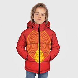 Куртка зимняя для мальчика Гомер медитирует цвета 3D-черный — фото 2