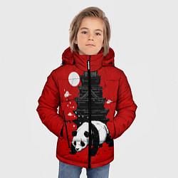 Куртка зимняя для мальчика Panda Warrior цвета 3D-черный — фото 2