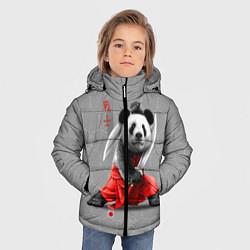 Куртка зимняя для мальчика Master Panda цвета 3D-черный — фото 2