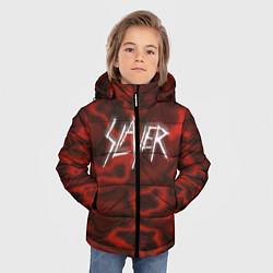 Куртка зимняя для мальчика Slayer Texture цвета 3D-черный — фото 2