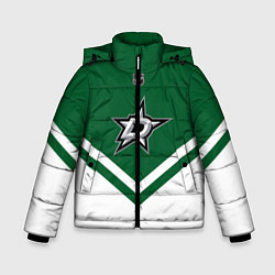 Детская зимняя куртка для мальчика с принтом NHL: Dallas Stars, цвет: 3D-черный, артикул: 10112154206063 — фото 1