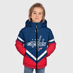 Детская зимняя куртка для мальчика с принтом NHL: Washington Capitals, цвет: 3D-черный, артикул: 10112246006063 — фото 2