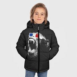 Детская зимняя куртка для мальчика с принтом 3D Monkey, цвет: 3D-черный, артикул: 10112477306063 — фото 2