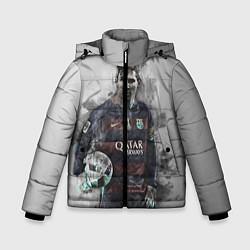 Детская зимняя куртка для мальчика с принтом Lionel Messi, цвет: 3D-черный, артикул: 10113185306063 — фото 1