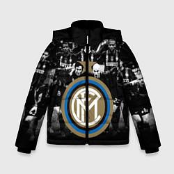 Детская зимняя куртка для мальчика с принтом Интер ФК, цвет: 3D-черный, артикул: 10113557306063 — фото 1