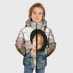 Куртка зимняя для мальчика Min Yoon Gi цвета 3D-черный — фото 2