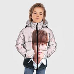 Детская зимняя куртка для мальчика с принтом Kim SeokJin, цвет: 3D-черный, артикул: 10114633706063 — фото 2
