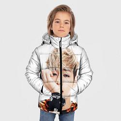 Куртка зимняя для мальчика Kim TaeHyung цвета 3D-черный — фото 2
