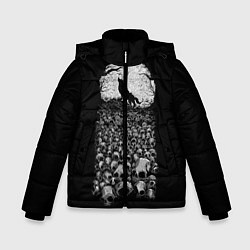 Куртка зимняя для мальчика Лунный охотник цвета 3D-черный — фото 1