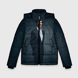 Куртка зимняя для мальчика Шерлок цвета 3D-черный — фото 1