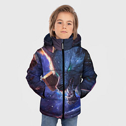 Куртка зимняя для мальчика Warwick цвета 3D-черный — фото 2