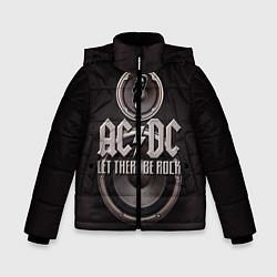 Куртка зимняя для мальчика AC/DC: Let there be rock цвета 3D-черный — фото 1