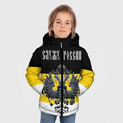 Детская зимняя куртка для мальчика с принтом Служу империи, цвет: 3D-черный, артикул: 10118261306063 — фото 2