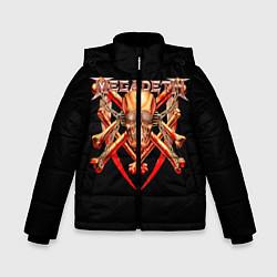 Куртка зимняя для мальчика Megadeth: Gold Skull цвета 3D-черный — фото 1
