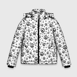 Куртка зимняя для мальчика Peace Symbol цвета 3D-черный — фото 1