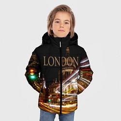 Куртка зимняя для мальчика Улицы Лондона цвета 3D-черный — фото 2