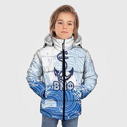 Куртка зимняя для мальчика ВМФ: морские волны цвета 3D-черный — фото 2