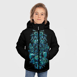 Куртка зимняя для мальчика Ghost In The Shell 7 цвета 3D-черный — фото 2