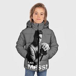 Детская зимняя куртка для мальчика с принтом Leo Messi, цвет: 3D-черный, артикул: 10123452806063 — фото 2