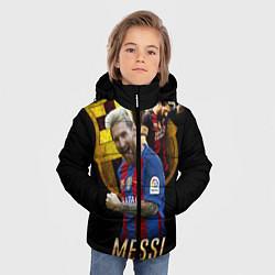 Куртка зимняя для мальчика Messi Star цвета 3D-черный — фото 2