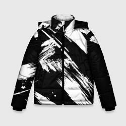 Куртка зимняя для мальчика Чёрно-белый цвета 3D-черный — фото 1